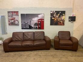 REAL LEATHER HARVEYS SOFA SET 3+1 SEATER IN GOOD CONDITION NICE FREE DELIVERY