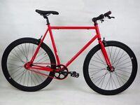 Brand new single speed fixed gear fixie bike/ road bike/ bicycles + 1year warranty & service 10wq