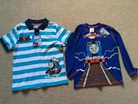 Two brand new Thomas and friends tops/ t-shirts with tags age 5-6 Years