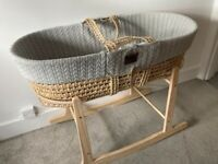 Almost new Moses Basket and Rocking Stand