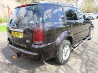 2007 07 SSANGYONG REXTON RX 270 SPORT D ESTATE LOW 103K ALLOYS 2 AND 4 WHEEL DRIVE SIDESTEPS PX-SWAP