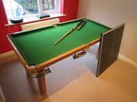 Riley 6 ft Table Sports: Snooker/Table tennis