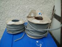 2 x reels of twin and earth cable, some used out each reel.