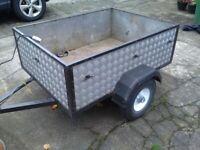 Aluminium car trailer