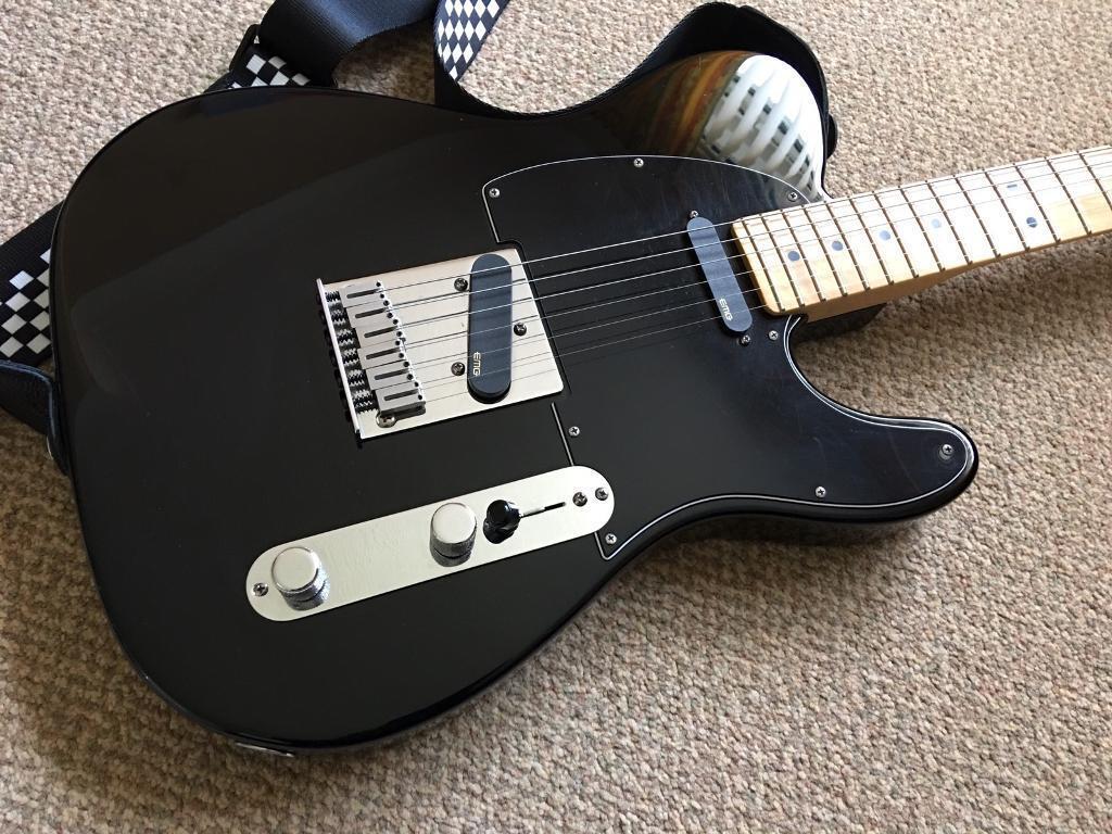 fender usa telecaster with emg pickups and fender hard case in scotstoun glasgow gumtree. Black Bedroom Furniture Sets. Home Design Ideas