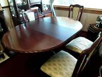 John E Coyle Dining Table and Chairs