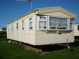 ABI arizona static caravan, Sandy Bay, Northumbria, Sited Dec. 2017 Fully equiped, double glazed