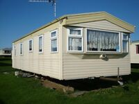 ABI arizona static caravan, Sandy Bay, Northumbria, Sited Dec. 2017 Fully equiped, double glazed
