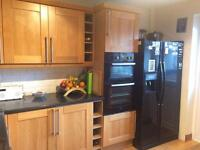 Solid wood kitchen and appliances