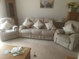 Stokers 3-seater sofa with 2 armchairs