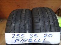 matching pair of 255 35 20 pirelli p-zeros 6mm tread £50 each sup & fittd(LOADS MORE AV 7-DAYS)