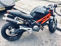 Monster 696, Black / Red, 2009, mivv exhaust