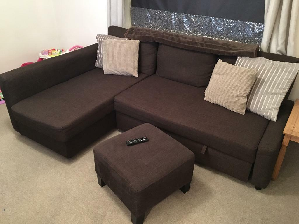 ikea friheten brown sofa sofa bed storage foot stool pouffe in wigan manchester gumtree. Black Bedroom Furniture Sets. Home Design Ideas