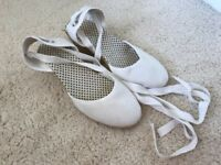 White Espadrilles, used, very good condition