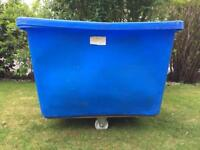 COMMERCIAL SCUBA/LAUNDRY WHEELED BIN BLUE ABS Soak water cart drum lid trolley wheeled chinese