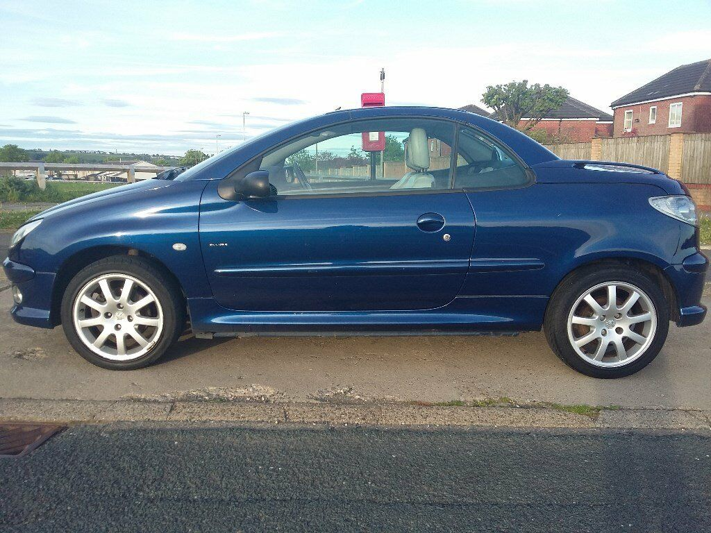 peugeot 206 cc 2 litre china blue leather seats alloys sports pack ideal car for summer. Black Bedroom Furniture Sets. Home Design Ideas