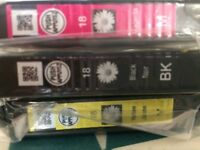 Epson Ink Cartridges x4 (2 black, yellow, red)