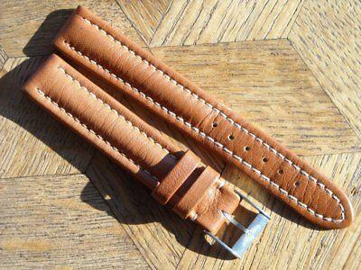 MDG Vintage N.O.S BREITLING leather strap with original Steel BUCKLE 15 mm. N°1.