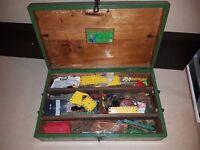 Rare Vintage Meccano Joblot & Vintage Case - Vintage Toys