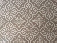 Ceramic tiles Victorian style grey and white pattern
