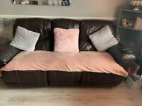 3 seater leather recliner sofa FREE!