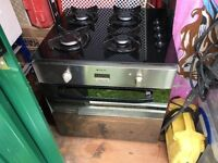 Hotpoint Electric Oven + Proline 4 ring gas hob