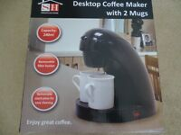 Desktop Coffee Maker with 2 Mugs new
