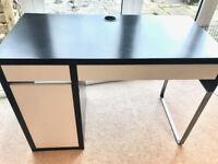 IKEA desk black and white Micke