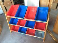 Children's Toy Box Rack x 12 boxes