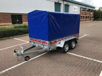 Brand new Tema Pro double axes 2,63cm car box trailer 750kg and high 110cm cover