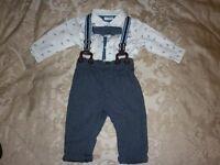 Next baby boy 3-6 suit