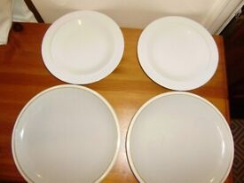 Plates by Denby, 2 plates are new and 2 are in VGC