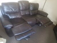 Faux leather 3&2 recliner sofa