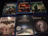 6 Blu Rays inc. cloverfield, district 9 and moon
