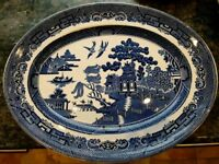 4 Johnson Bros Blue Willow oval plates