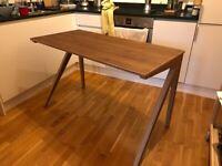 MOVING SALE, Unto This Last - K Desk (Walnut Color, Birch Plywood))