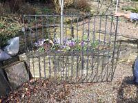 Large iron double driveway gates