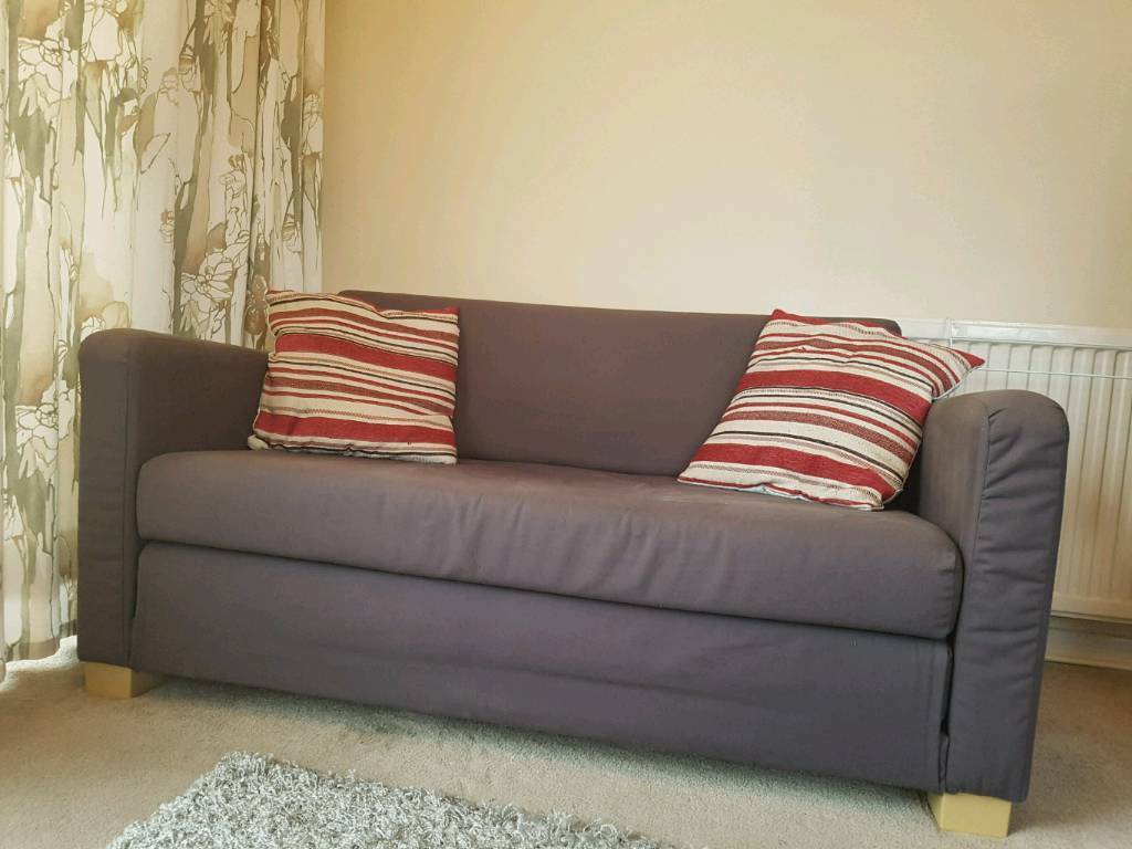 Ikea Double Bed Sofa Couch With 2 Cushions In Tamworth