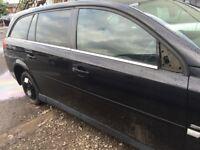 Vauxhall Vectra MK 3 Estate Drivers Rear Door in Black O/S/R Estate 2007