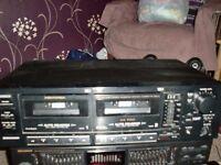 memorex twin auto reveres tape deck sct- 89