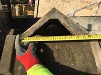 Concrete ridge tiles