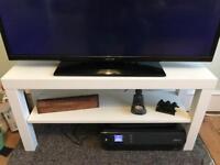 IKEA plain simple white TV stand shelve