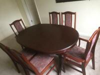 Dining table (extendable) & 6 chairs