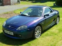 MGTF 160bhp VVC convertible for sale - Typhoon Blue 2004
