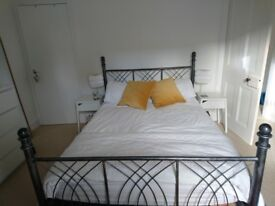 Double bed frame - brushed metal