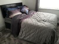 Double bed and elegant dreams memory foam mattress for sale - nearly new!