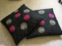 Offers!!!! Pair of black cushions