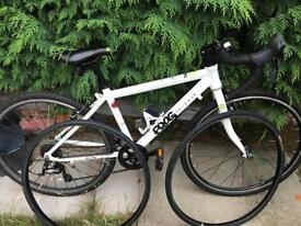 "Frog Bikes Road 67 - 24"" kids road / cyclocross bike / drop handlebars / white."