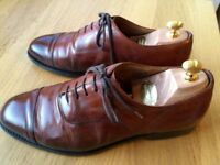 Churches Consul Nevada brown Calf leather mens handmade formal shoes, size 9, rrp £385