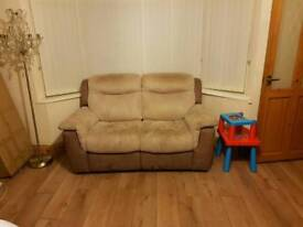 Electric recliner 2 seater sofas x2